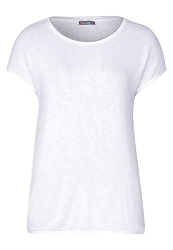 Street One Damen 314794 Edona T-Shirt, White, 38