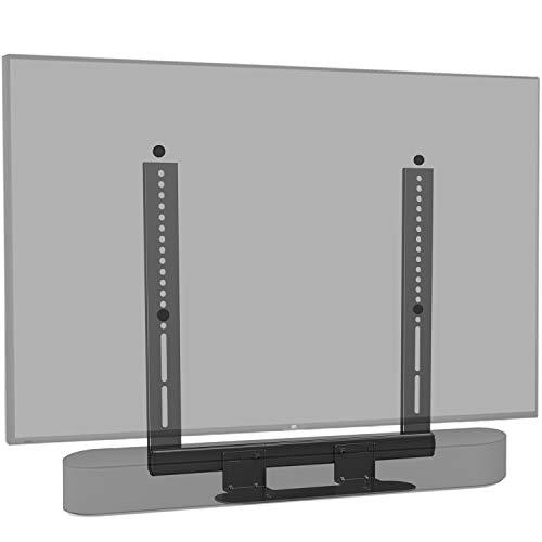 Mounting Dream Soundbar Halterung speziell für SONOS Beam, für Fernseher VESA bis 600x400mm, mit Gleitblock, an TV, TV-Halterung montieren (schwarz)
