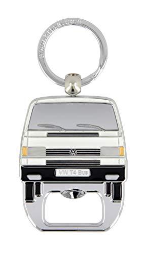 Brisa VW Collection – Volkswagen Furgoneta Bus T4 Camper Van Llavero Vintage con Abre-Botellas Integrado, Anillo de Llavero Retro, Accesorios del Coche como Idea de Regalo/Souvenir (Blanco)