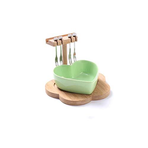 LIPENLI Sala Bandeja en Forma de corazón Europea Nueces for el hogar Caramelo Creative Box Frutos Secos de la Placa del bocado Placa Modernos Sala de Fruta (Color: Rosa)