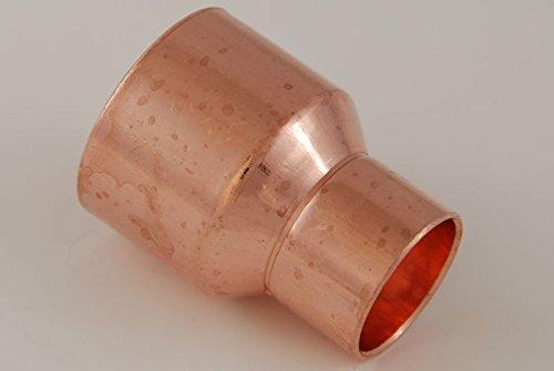 Reduzier-Muffe 42-28 mm / 5240 i/i (VE 2 Stk) Kupferfitting Kupfer Fitting Lötfitting CU, 2 Stück, copper fitting, zum Löten, Rohrverbinder