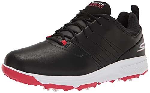 Skechers Go Golf Torque Pro, Zapatos Hombre, Negro y Rojo, 43 EU