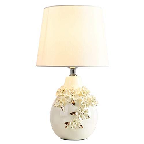 Para sala de estar, sala de niños, Lámparas de mesa Lámparas de escritorio estadounidense esmalte de cerámica del dormitorio lámpara de mesa de noche Inicio lámpara de mesa de boda de la lámpara (blan
