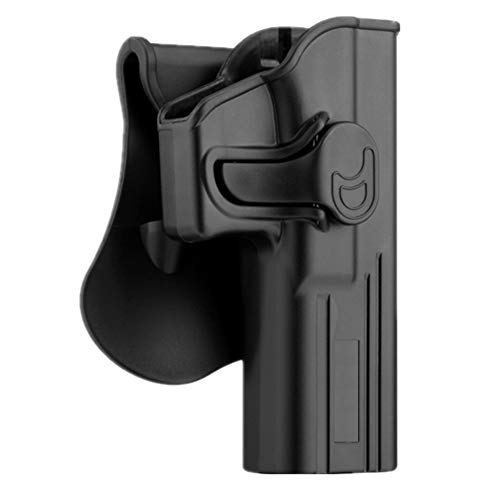 Glock 17 Holster OWB, Outside The Waistband Carry Belt Holster for Glock 17 22 31 Gen 1 2 3 4 5, Tactical Polymer Paddle Holster with 360° Adjustable -RH