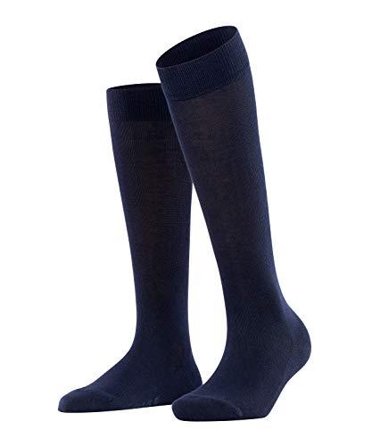 FALKE Damen Kniestrümpfe Family - 94% Baumwolle, 1 Paar, Blau (Dark Navy 6379), Größe: 39-42