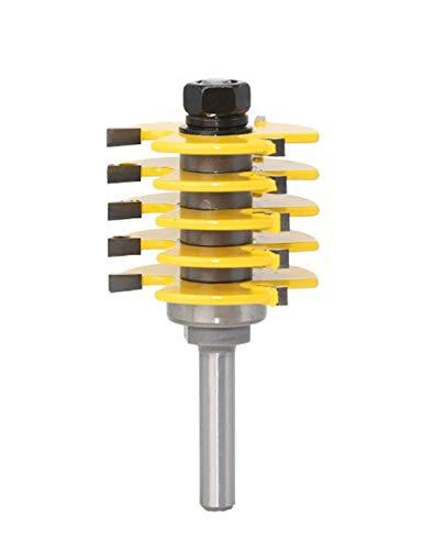 Meccion - Punta a scalpello regolabile, in carburo da 8 mm, codolo professionista, strumento per intagliare il legno