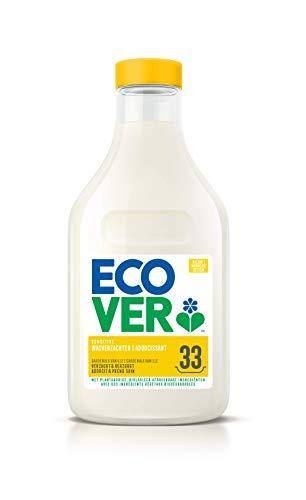 Ecover Adoucissant, Parfum Gardénia Et Vanille, Origine Naturelle Et Doux Pour Votre Peau Et Votre Linge, 33 Utilisations, 1L