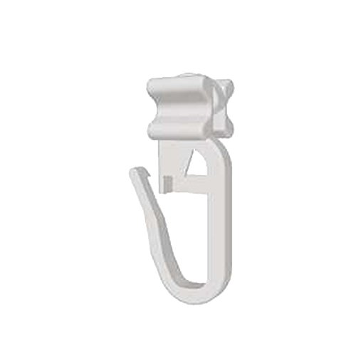 Faltengleiter | X-Gleiter mit Faltenlegehaken für Gardinenschienen | für 6mm Innenläufe | Qualität Made in Germany | 100 Stück