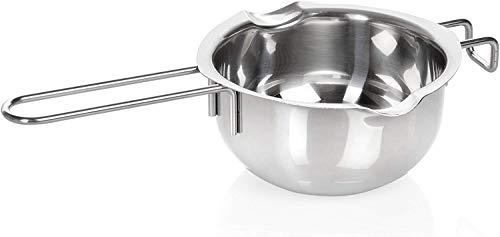 Wenco 518550 Wasserbad-Schmelzschale, Mit 2 Ausgießern, Rostfreier Edelstahl, 14 cm, Silber