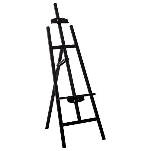 HOMCOM Caballete de Pintura Caballete de Madera Haya de Dibujo Estudio Inclinable 90° Trípode 46x60x140cm