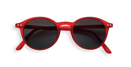 IZIPIZI Sun Junior #D Rojo, Gafas de sol redondas, Gafas de Sol de niña, Gafas de sol de niño, Gafas de sol Unisex +0 Rojo