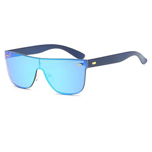 KANGDE Spiegelschirme für Damenmodepiloten Randlose Sonnenbrille für Damenbrillen Square