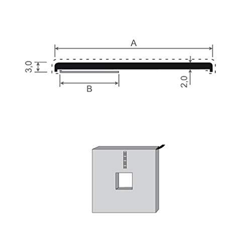 Flachleiste Kunststoff weiß selbstklebend 150m Rolle versch. Breiten Fensterleiste Abdeckleiste Kunststoffleiste (60 mm)