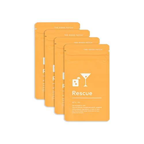 The Good Patch Rescue Patch for a Night Out. Complete with B1, B Complex and Green Tea Extract. Plant Based (4 Pack) (16 Patches)