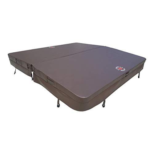 Canadian Spa - Cubierta para bañera de hidromasaje, estrechamiento de 4,25 cm, 2,08 x 2,08 m, color marrón