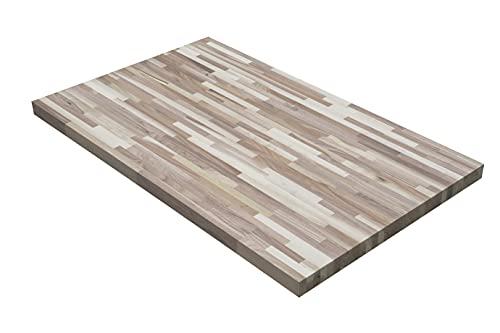 Tablero de madera Country 40 x 800 x 1200 mm, 25 kg, placa de madera maciza para mesa de comedor, nogal americano, tablero de comedor sin tratamiento superficial