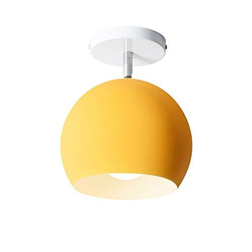GaLon Moderne aluminium plafondlamp Macaron kleine plafondlamp voor kleurrijke garderobe voor badkamer balkon veranda hal vuur hoek verstelbaar creatieve Lumi Geel