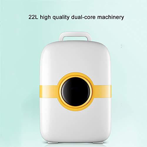 Mini refrigerador para el automóvil 22v para el hogar, refrigerador de Alquiler para el hogar pequeño de Doble Uso, Ideal para oficinas, refrigerador Ultra silencioso silencioso, para el automóvil d