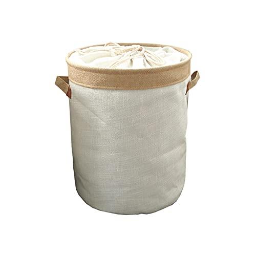 Cesta de almacenamiento Tela de lona resistente con manijas de cuerda cubierta de cordón para niños baño niños bebé niña dormitorio niñas escaleras muchachos muchachos camper húmedo lavado armario hom