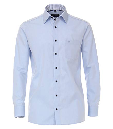 Casamoda Popeline uninah Comfort Fit - Camisa para hombre azul claro 48