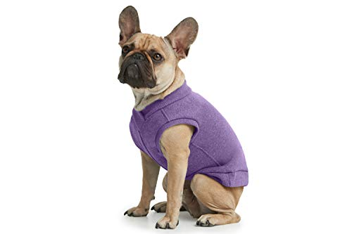 ESPAWDA Casual Stretch Comfort Cotton Dog Sweatshirt Sweater Vest for Small Dogs, Medium Dogs, Big Dogs (2X-Large, Purple)