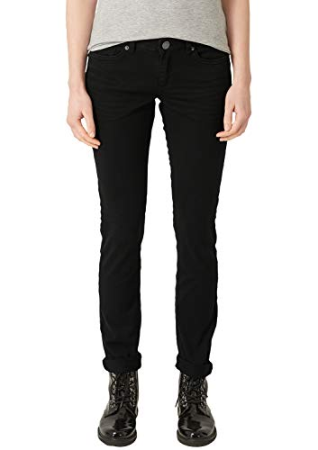 Q/S designed by - s.Oliver Damen 45899710414 Slim Jeans, Schwarz (Black 9999), W42/L30