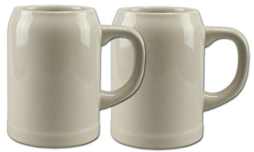 2 Bierkrüge Humpen 0,5L Steinkrug ohne Füllmarke