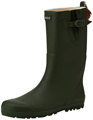 Aigle Woodypop, Unisex-Kinder Gummistiefel, Grün (kaki), 24 EU
