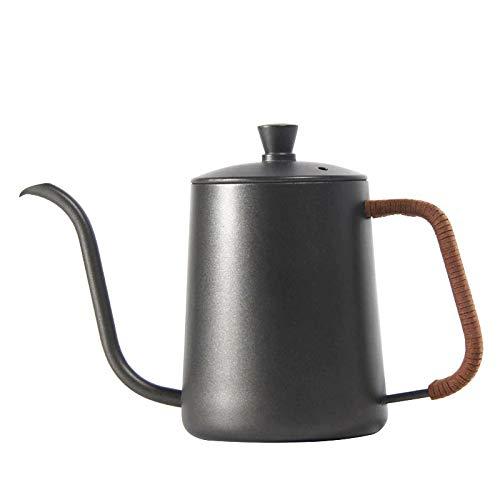 NUCA Drip Kettle 350ml 600ml Coffee Tea Pot Non-Stick Coating Food Grade Stainless Steel Gooseneck Drip Kettle Swan Neck Thin Mouth