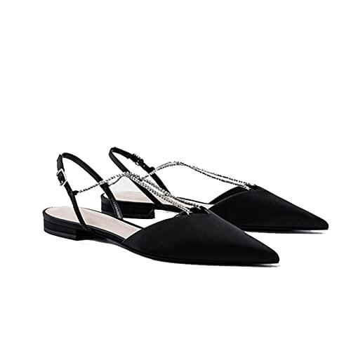 Sandalias romanas para mujer, puntiagudas, puntiagudas, de verano, al aire libre, transpirables,...