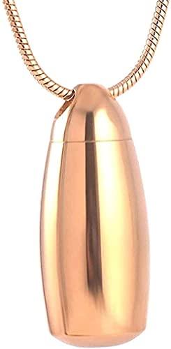 YXYSHX Joyería de cremación Urnas para PerrosHombres y Mujeres CollarnovedosoColgante Botella de Agua Collar Colgante Crema Cenizas Recuerdo Oro-Acero-Acero-Oro