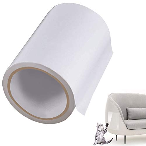 jlon Cat Training Tape,3.15 Inches x 11 Yards Double-Sided Anti Scratch Training Tape Clear Furniture Protectors Pet Tape for Leather Sofa, Chairs, Carpet, Couch, Door