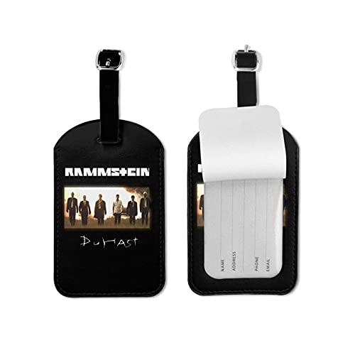 Ra_Mmst_EIN Etiquetas de equipaje de cuero para hombres y mujeres, etiquetas de equipaje para bolsas de equipaje para identificación, etiquetas de accesorios de viaje