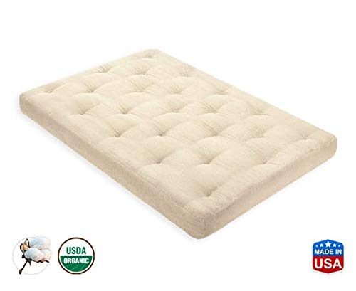 Review 8 Inch Organic Cotton Mattress Cal King by Comfort Pure