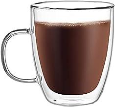 CnGlass Double Walled Glass Coffee Mugs 500ML/17oz,Large Insulated Glass Espresso Mugs,Set of 1