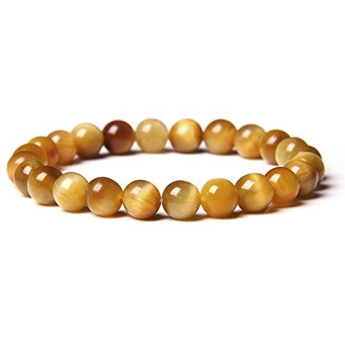 Pulseras de piedra de morganita natural para mujer, pulsera de piedra multicolor, joyería,pulsera de yoga de cristal energético, cuentas de oro de 8 mm