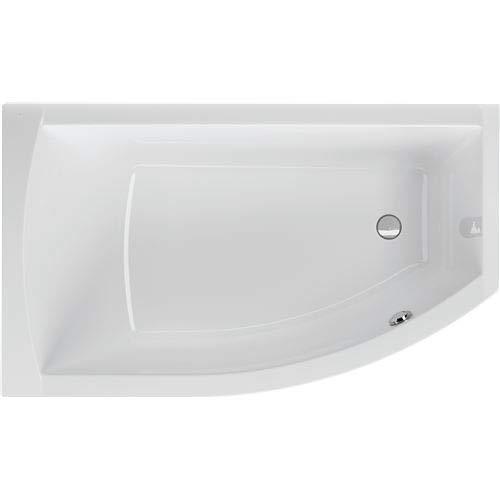 Acryl Raumsparwanne Flo 160 x 95 cm links weiß Wanne Badewanne Eckbadewanne - Styropor Wannenträger (ohne Wannenträger)