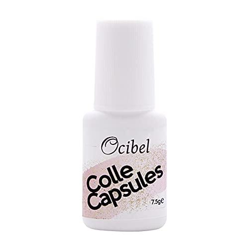 Ocibel - Colle capsules pour faux ongles avec pinceau - 7,5 ml - Manucure, Faux Ongles et Nail Art