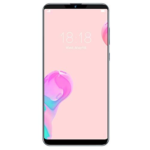 Smartphone, Schermo tattile Completo da 6,1 Pollici MTK6580P Doppia Scheda Quad-Core Dual Standby 6 + 64G Smartphone con Scheda di Memoria 128G, Supporto Face Unlock/Smart Wake Up, per Android(io)