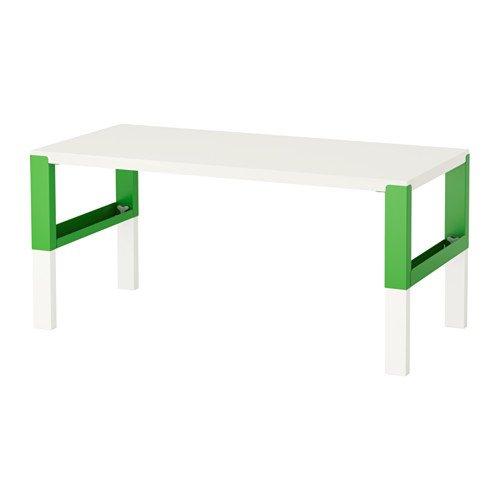 Ikea Skrivbord, vit, grön 14204.82629.1838