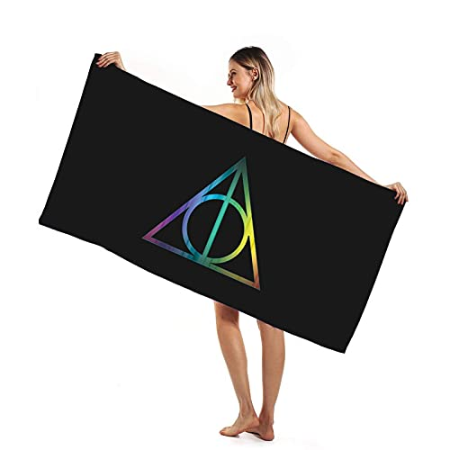 Toalla de Playa Cuadrada Microfibra Viaje Extragrande Harry Potter con Toalla Baño Secado Rápido Sin Arena para Adultos y Niños (Color : 2, Size : 63 X 51 Inch)