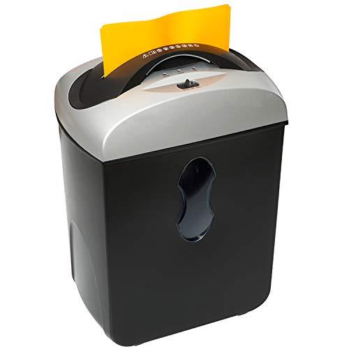 Genie 550 MXCD leiser Hochsicherheits Aktenvernichter, bis zu 5 Blatt, Mikro-Partikelschnitt (Sicherheitsstufe P-5), mit CD-Shredder - geeignet für Datenschutz nach neuer Verordnung, schwarz/silber