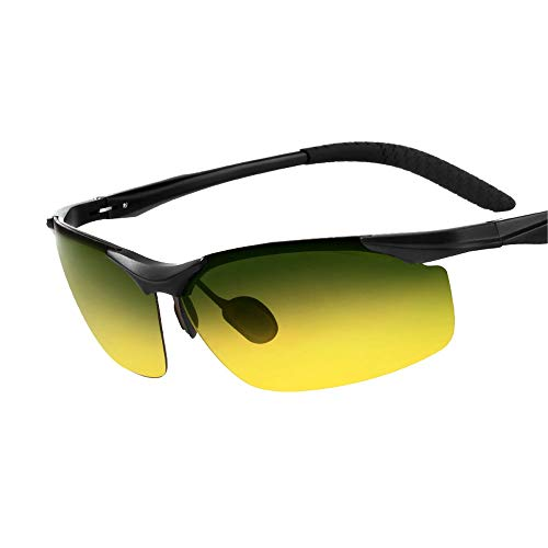 LDH Gafas de Sol de Día Y de Noche Gafas de Sol Hombre Polarizadas Gafas de Conducción Anti-deslumbrantes Conjuntamente Ojos de Pesca de Pesca Visión Nocturna Conducción de Gafas Al Aire Libre