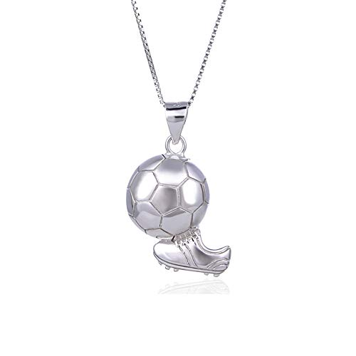 Ciondolo da calcio Collana in argento 925 / pendente in argento da donna per i regali delle donne