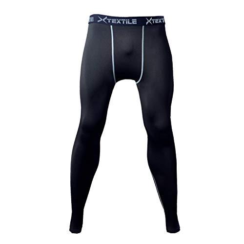 Xtextile Sports Compression Running Leggings Gym Exercise Lycra Elastic Tight Pants Leggings for Men Male (XL)