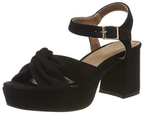 El Caballo Motillejo, Zapato de tacón para Mujer, Negro, 37 EU