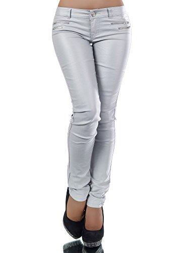 Damen Jeanshose Skinny L521, Größen 38 (M), Farben Grau