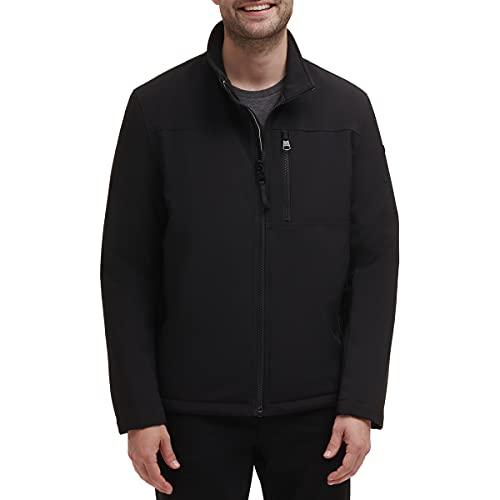 Calvin Klein Men's Sherpa Lined Soft Shell Jacket, Black, Medium