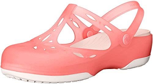 Crocs Carlie Cutout W, Damen Sandalen, Pink (Coral/Oyster 6CB), 34/35 EU