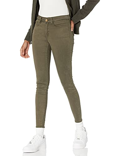 Amazon Brand - Daily Ritual Women's Stretch Sateen Skinny-Fit Pant, dark olive, 8